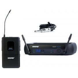 Sistema Micrófono Inalámbrico Digital Shure para Gitarra o Bajo PGXD14