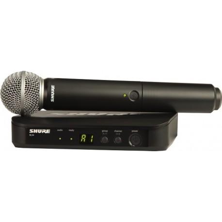 Sistema Micrófono Inalámbrico de mano Shure BLX24/PG58