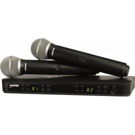 Sistema Micrófono Inalámbrico Doble Shure BLX288/PG58