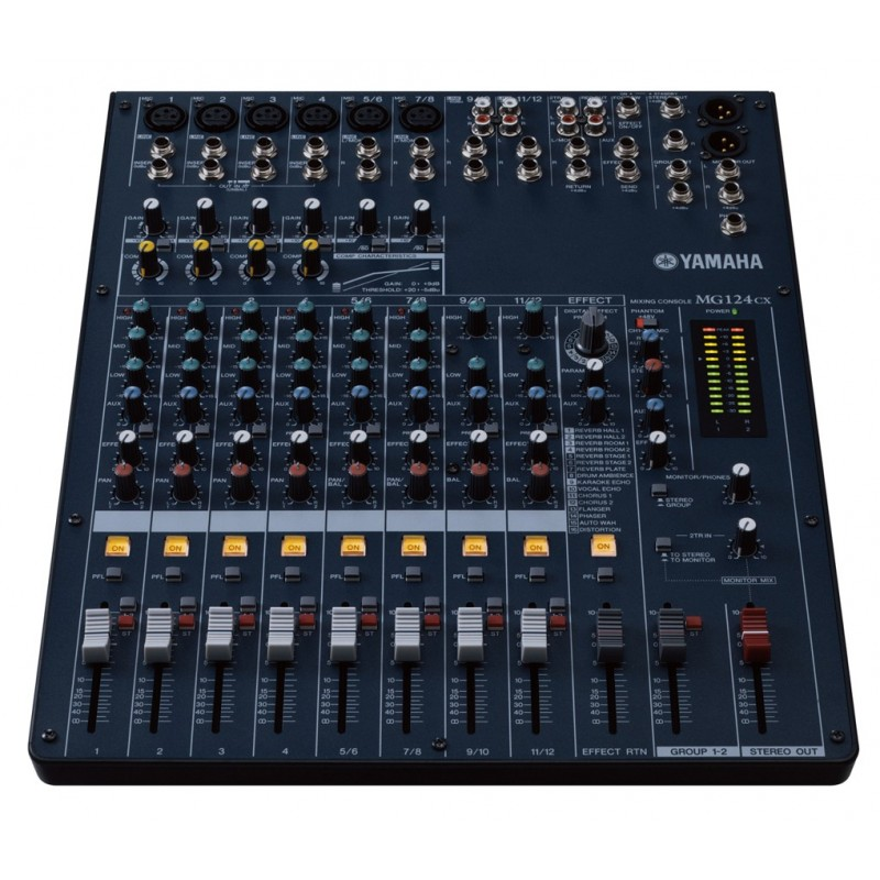 Mezcladora yamaha mg124cx con compresor y efectos electr nica teran tienda en l nea de audio for Table yamaha
