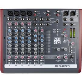 Mezcladora de 10 canales con USB Allen & Head ZED10