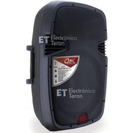 """Bocina amplificada QMC-1800A de 15"""" pulgadas con Bluetooth y reproductor USB MP3"""