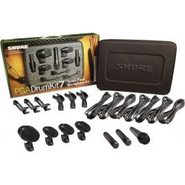 Paquete de 7 micrófonos para batería Shure PGADRUMKIT7