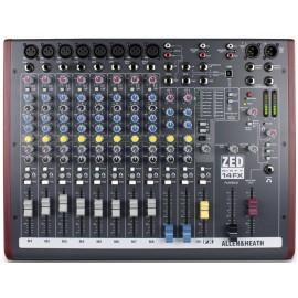 Mezcladora de audio de 10 canales con efectos y conexión USB Allen & Heat ZED60-14FX