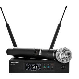 Sistema Micrófono Inalámbrico Digital de Mano Profesional Shure QLXD24/SM58
