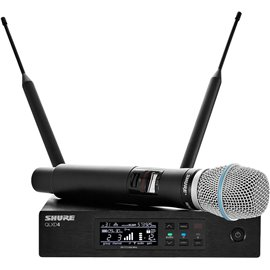 Sistema Micrófono Inalámbrico Digital de Mano Profesional Shure QLXD24/Beta87A