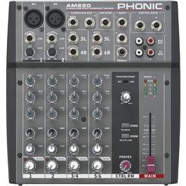 Mezcladora de audio Phonic AM220 de 6 canales
