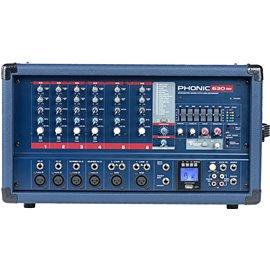 Consola Mezcladora de 6 canles Phonic Powerpod 630RW con reproductor MP3 y bluetooth