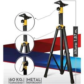 Pedestal reforzado para bafles de audio en construcción metálica SP-01