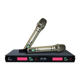 Par de Micrófonos Inalámbricos de Mano MELO RF-200