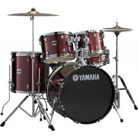 Batería Acústica Yamaha GIGMAKER Color roja-Borgoña