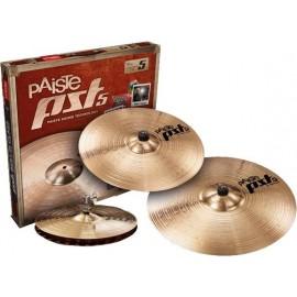 """Paquete de platillos Paiste PST 5 Rock Set (14""""Rock HH/16""""Rock CR/20"""" Rock R)"""