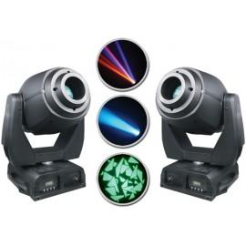 Par de Cabezas Moviles Showco Spot 575 LED con estuche doble incluido