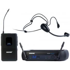 Sistema Micrófono Inalámbrico Digital de Diadema Shure PGXD14/PG30
