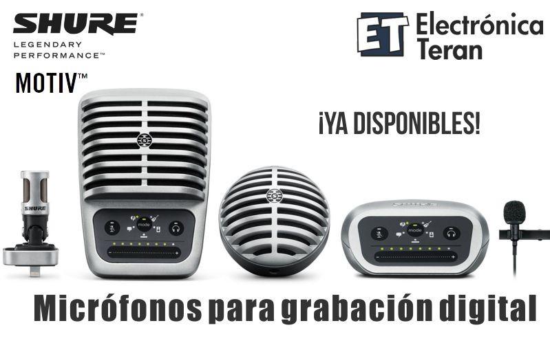 Micrófonos Shure Motiv