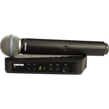 Sistema Micrófono Inalámbrico de mano Shure BLX24/BETA58