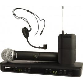 Sistema Micrófono Inalámbrico Doble Combinado de Mano y Diadema Shure BLX1288/PG30