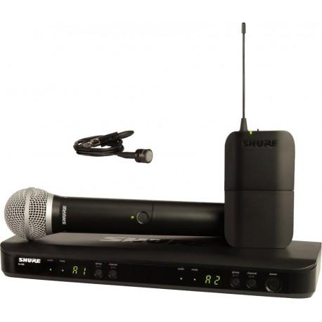 Sistema Micrófono Inalámbrico Doble Combinado de Mano y Solapa Shure BLX1288/PG85