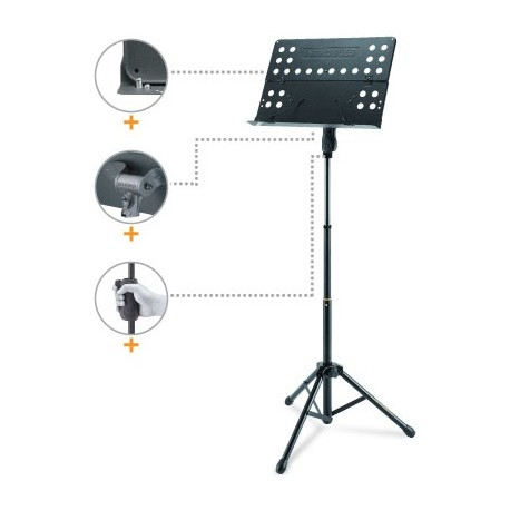 Soporte para partituras Hercules BS418B Orquesta