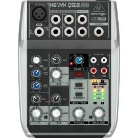 Mezcladora Behringer de 5 canales XENYX Q502USB