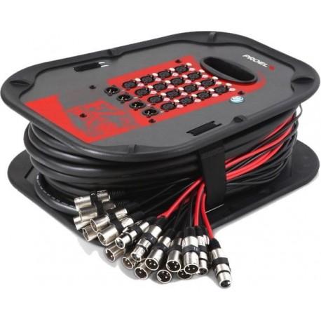 Snake de audio tipo carrete de 20 canales PROEL EZBOX1604