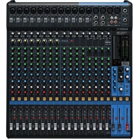 Mezcladora Yamaha MG20XU de 20 canales con efectos y conexión USB
