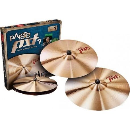 """Paquete de platillos Paiste PST 7 Rock Set (14""""HH/16""""C/ 20"""" R)"""