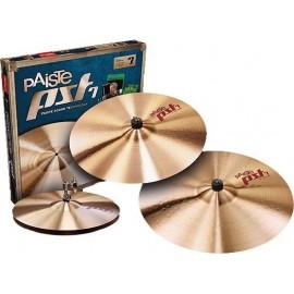 """Paquete de platillos Paiste PST 7 Session Set (14""""HH/16""""C/ 20"""" R)"""