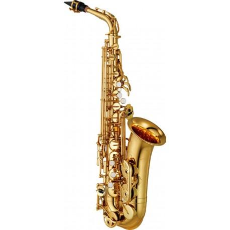 Saxofón Alto Yamaha YAS-480 intermedio con llave de Fa y Fa frontal