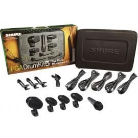 Paquete de 5 micrófonos para batería Shure PGADRUMKIT5