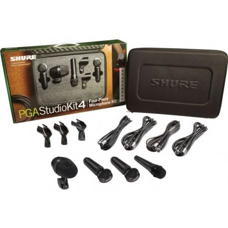 Paquete de 4 micrófonos para estudio Shure PGAStudioKit4