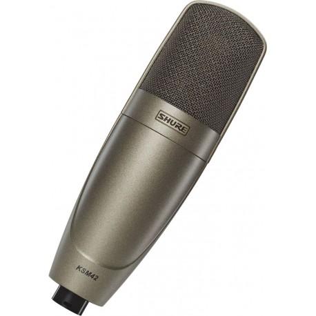 Micrófono profesional de condensador Shure KSM42 para estudio