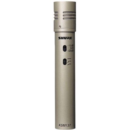 Micrófono de condesador para instrumentos Shure KSM137