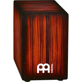 Cajon de percusión Meinl HEADLINER® Designer Strings cajons HCAJ2RTS TIGER STRIPED ROJO