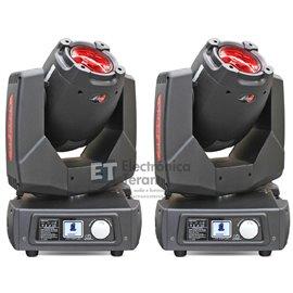 Par de Cabezas Móviles Beam 2R Lite-Tek con estuche doble