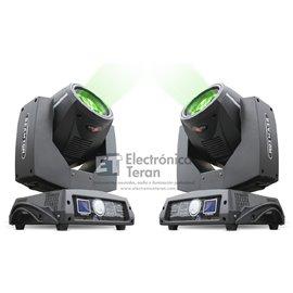 Par de Cabezas Móviles Beam 10R Lite-Tek con estuche
