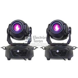 Par de Cabezas Móviles LED SPOT 60 Lite-Tek con estuche