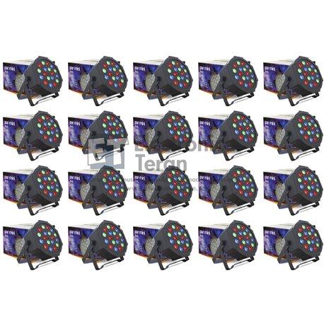 Caja con 20 piezas de PAR MINI 18 LEDs de 3 Watts Lite-Tek