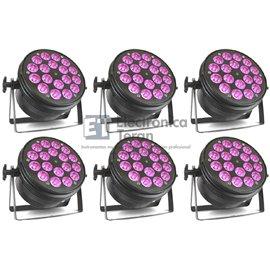 Estuche de 6 piezas PAR UV 18x10 (LUZ negra) Lite-Tek