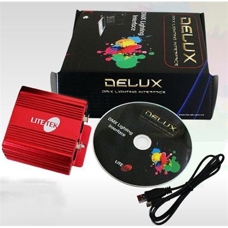 Interface de iluminación para PC DELUX 1024 Lite-Tek