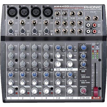 Mezcladora de audio Phonic AM440D 4 canales mono 4 estereo y efectos