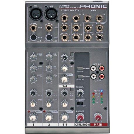 Mezcladora de audio Phonic AM85 de 6 canales