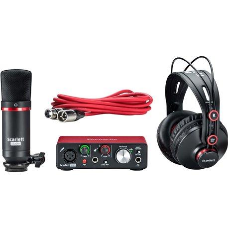 Paquete de grabación de audio Focusrite Scarlett Solo Studio