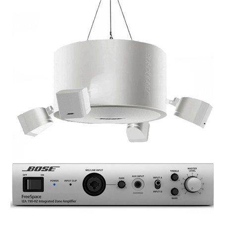 Sistema de audio Bose FreeSpace 3 colgado + amplificador de audio Bose IZA-190HZ