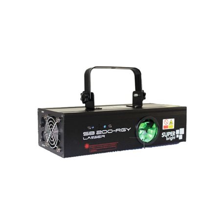 Laser de 200mw de color verde y rojo Superbright SB 200-RGY