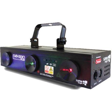 Laser de 3 salidas de color rojo, verde y azul SuperBright SB-330RGB