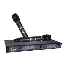 Micrófono Inalámbrico de Mano Doble MELO RF-300