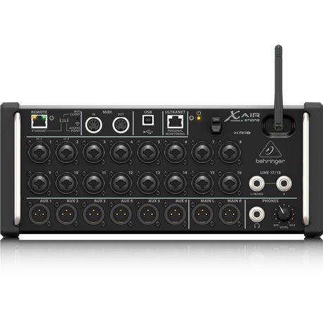 Mezcladora de audio digital Behringer XR18 de 18 canales para tabletas iPad / Android