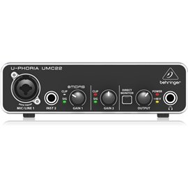 Interfaz para grabación de audio Behringer U-PHORIA UMC22