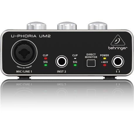Interfaz de grabación de audio Behringer U-PHORIA UM2 de 1 canal